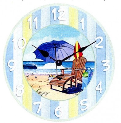 Shore Thing Clock