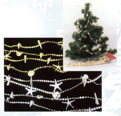 Gold or Silver Shell Garland